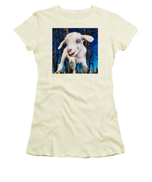 Goat High Fashion Runway Women's T-Shirt (Junior Cut) by TC Morgan