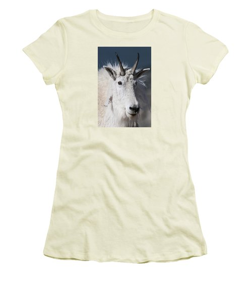 Goat Portrait Women's T-Shirt (Athletic Fit)