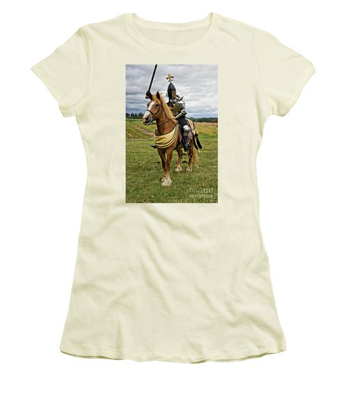 Gold And Silver Knight Women's T-Shirt (Athletic Fit)