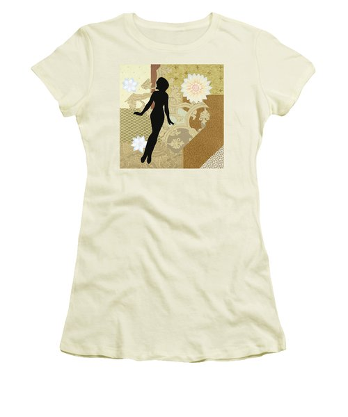 Gold Paper Doll Women's T-Shirt (Athletic Fit)