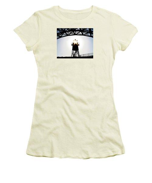Golden Gate Above Fort Point Women's T-Shirt (Junior Cut) by John King