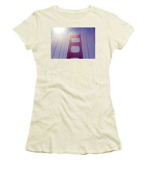 Golden Gate Bridge The Iconic Landmark Of San Francisco Women's T-Shirt (Junior Cut) by Jingjits Photography