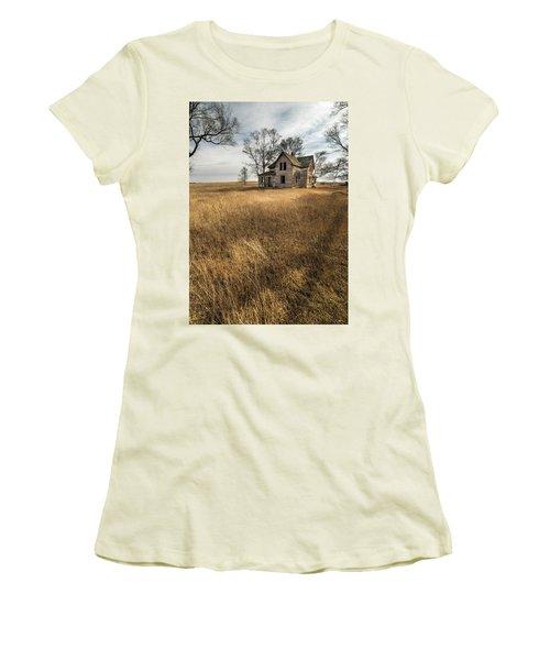 Golden Prairie  Women's T-Shirt (Junior Cut) by Aaron J Groen