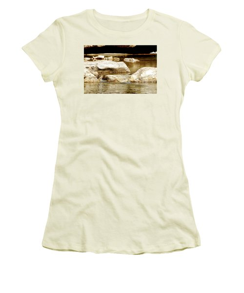 Golden Stream Women's T-Shirt (Junior Cut) by Nancy Landry
