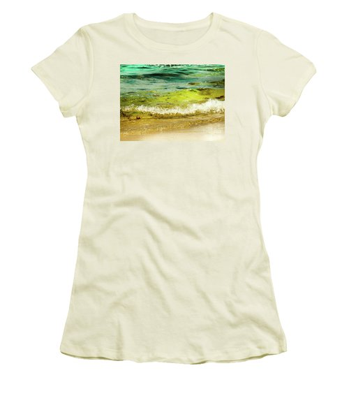 Golden Waves At Pacific Grove California Near Lover's Point Women's T-Shirt (Athletic Fit)