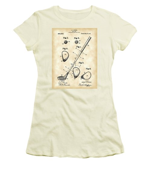 Golf Club Patent 1909 - Vintage Women's T-Shirt (Athletic Fit)