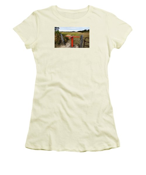 Women's T-Shirt (Junior Cut) featuring the photograph Golf Range 01 by Kevin Chippindall