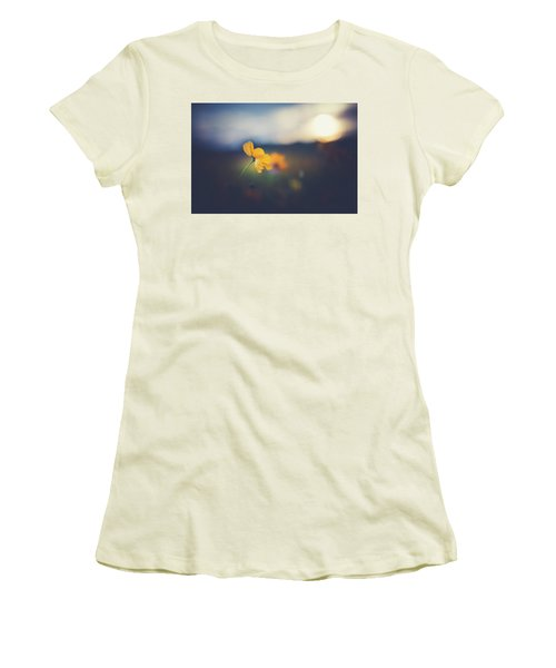 Women's T-Shirt (Junior Cut) featuring the photograph Goodnight Sun by Shane Holsclaw