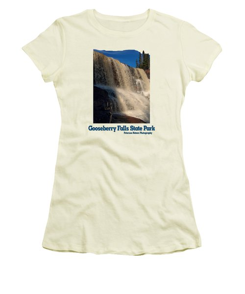 Gooseberry Falls Women's T-Shirt (Junior Cut) by James Peterson