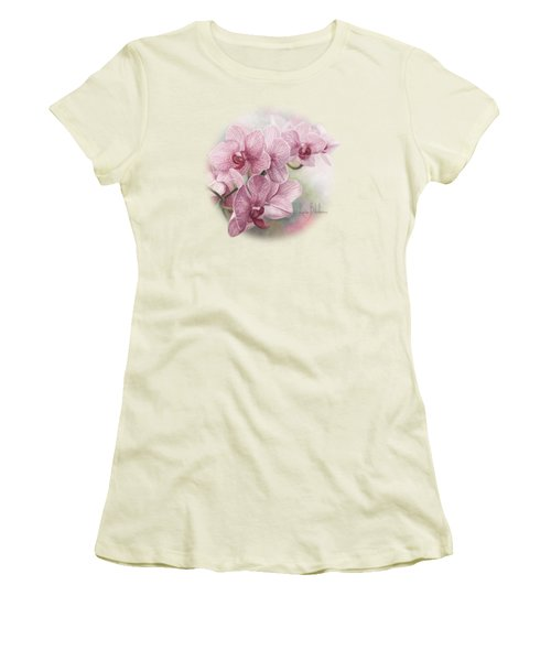 Graceful Orchids Women's T-Shirt (Junior Cut) by Lucie Bilodeau