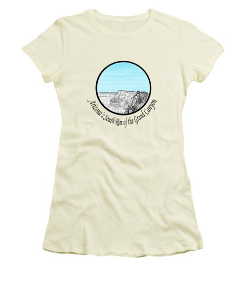 Grand Canyon - South Rim Women's T-Shirt (Junior Cut) by James Lewis Hamilton