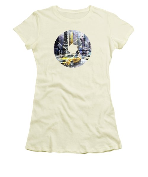Graphic Art New York City Women's T-Shirt (Athletic Fit)
