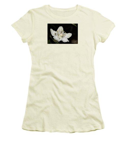 Grass Of Parnassus Women's T-Shirt (Junior Cut) by Barbara Bowen