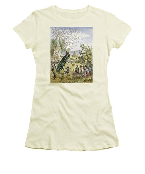 Grasshopper And Ant Women's T-Shirt (Junior Cut) by Granger