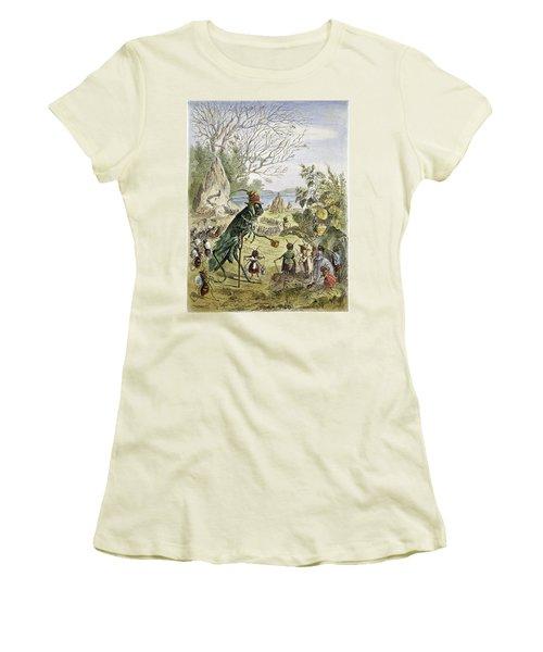 Grasshopper And Ant Women's T-Shirt (Junior Cut) by Granger