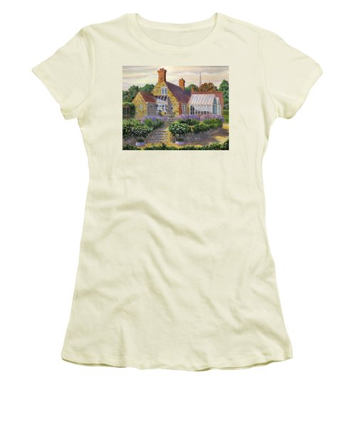 Great Houghton Cottage Women's T-Shirt (Junior Cut) by David Gilmore