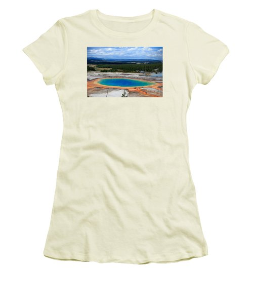 Great Prismatic Spring   Women's T-Shirt (Athletic Fit)