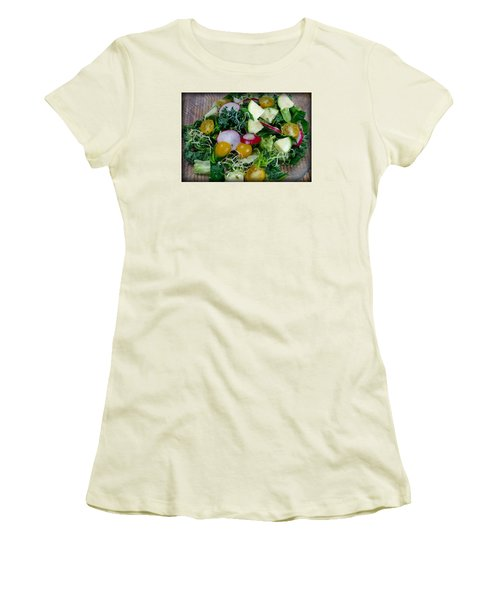 Women's T-Shirt (Junior Cut) featuring the photograph Green Salad by Adria Trail