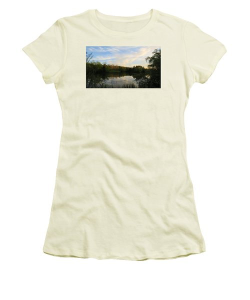 Greenfield Pond Women's T-Shirt (Athletic Fit)