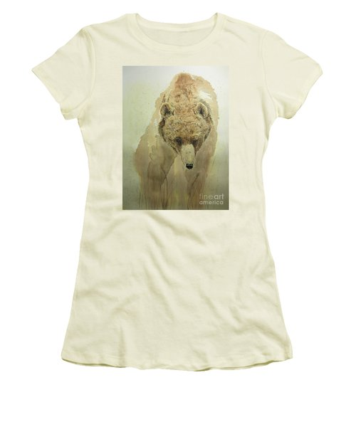 Grizzly Bear1 Women's T-Shirt (Junior Cut) by Laurianna Taylor