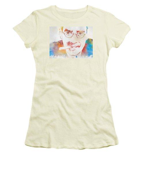 Groucho Marx Women's T-Shirt (Junior Cut) by Dan Sproul
