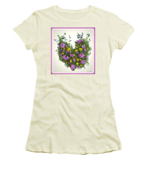 Women's T-Shirt (Junior Cut) featuring the digital art Growing Heart by Lise Winne