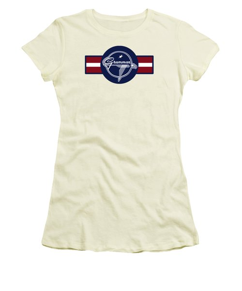 Grumman Stripes Women's T-Shirt (Athletic Fit)