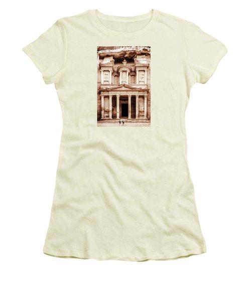 Guarding The Petra Treasury Women's T-Shirt (Junior Cut) by Nicola Nobile