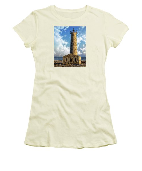 Gull Island Lighthouse Women's T-Shirt (Athletic Fit)
