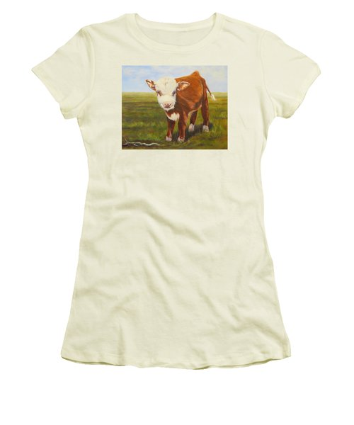 Gus, Cow Women's T-Shirt (Athletic Fit)