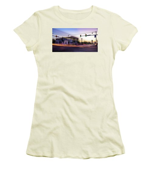 Hackberry And Commerce Women's T-Shirt (Junior Cut) by Micah Goff