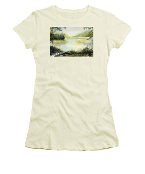 Half Moon Pond Women's T-Shirt (Athletic Fit)