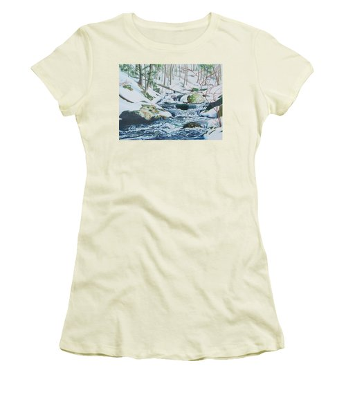 Hamburg Mountain Stream Women's T-Shirt (Athletic Fit)