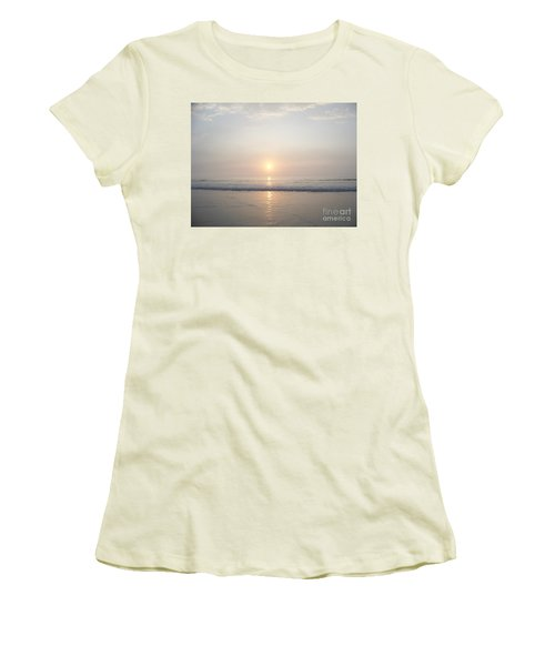 Women's T-Shirt (Junior Cut) featuring the photograph Hampton Beach Sunrise by Eunice Miller