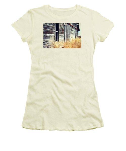 Women's T-Shirt (Junior Cut) featuring the photograph Hanging By A Bolt by Julie Hamilton