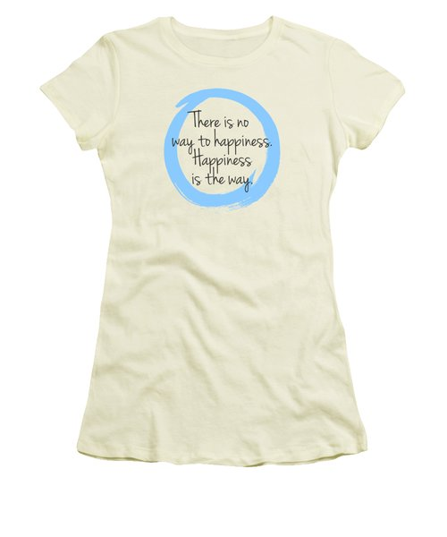 Women's T-Shirt (Junior Cut) featuring the digital art Happiness by Julie Niemela