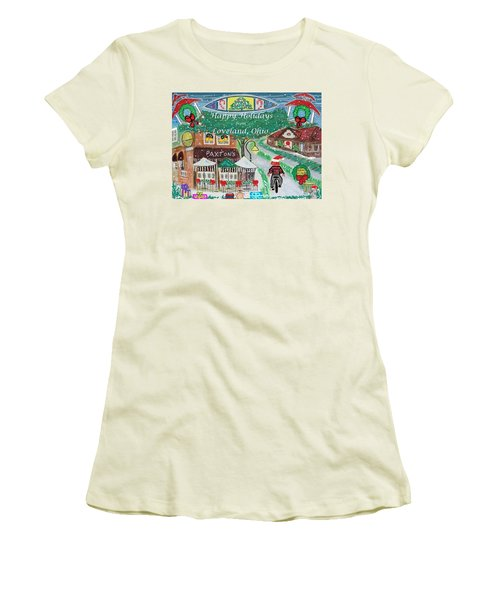 Happy Holidays From Loveland, Ohio Women's T-Shirt (Junior Cut) by Diane Pape