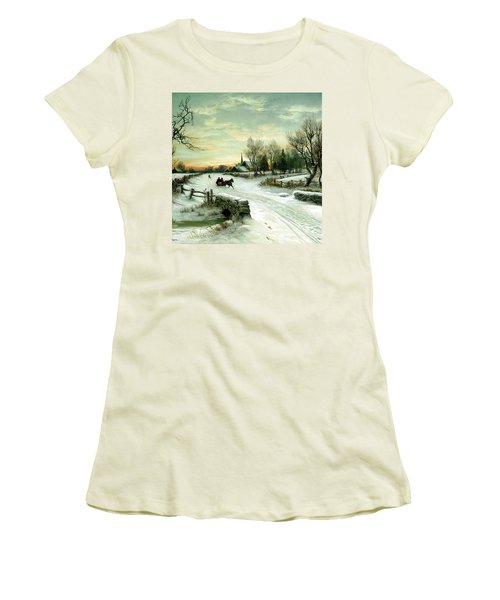 Happy Holidays Women's T-Shirt (Athletic Fit)