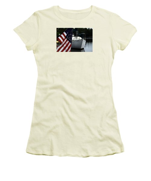 Harbor Women's T-Shirt (Junior Cut) by Allen Beilschmidt