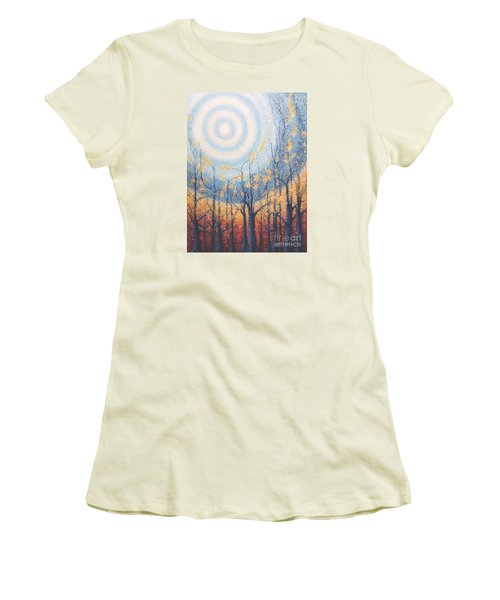 Women's T-Shirt (Junior Cut) featuring the painting He Lights The Way In The Darkness by Holly Carmichael