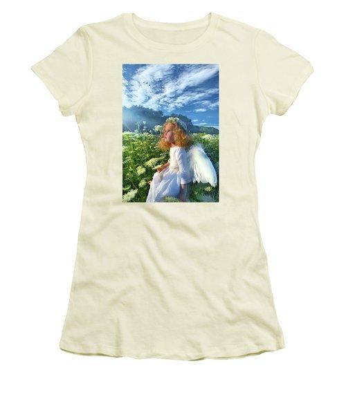Heaven Sent Women's T-Shirt (Junior Cut) by Phil Koch