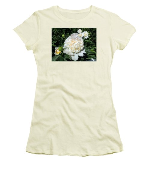 Heavenly White Women's T-Shirt (Junior Cut) by Teresa Schomig
