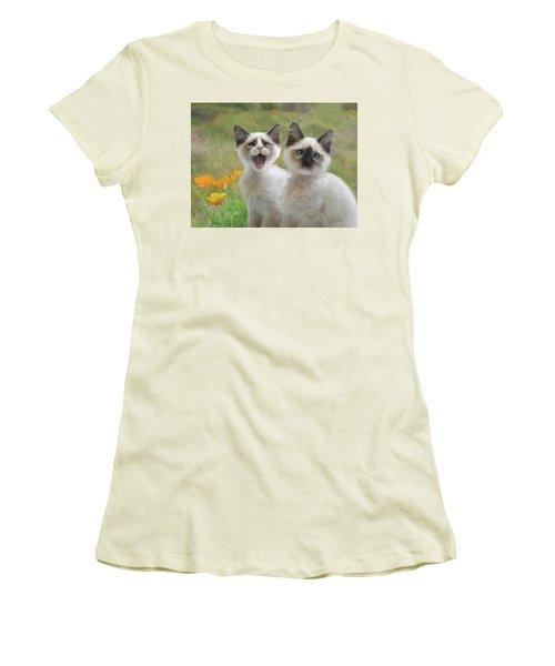 Help  Women's T-Shirt (Athletic Fit)