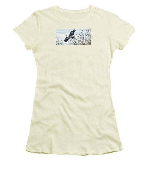 Herons Flight Women's T-Shirt (Junior Cut) by James Williamson
