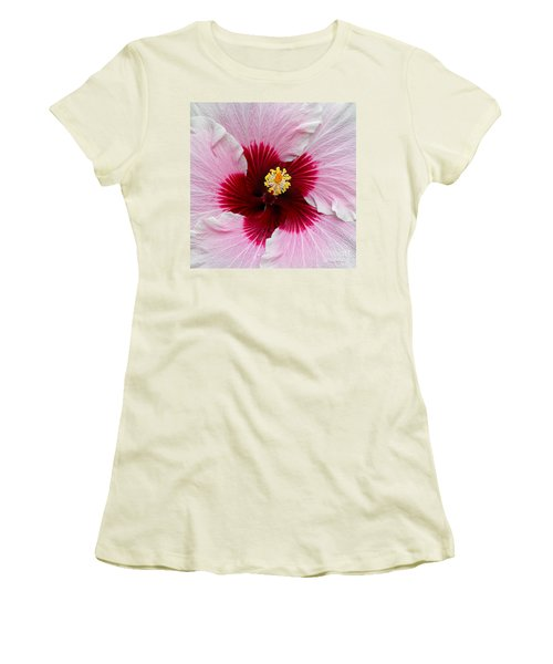Hibiscus With Cherry-red Center Women's T-Shirt (Junior Cut)