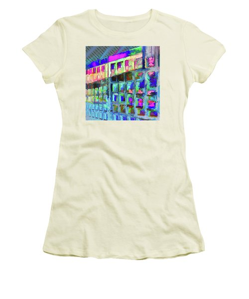 Women's T-Shirt (Athletic Fit) featuring the digital art Hide And Seek by Wendy J St Christopher