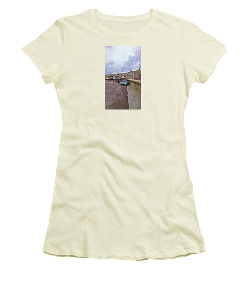 Women's T-Shirt (Junior Cut) featuring the photograph High And Dry by Anne Kotan