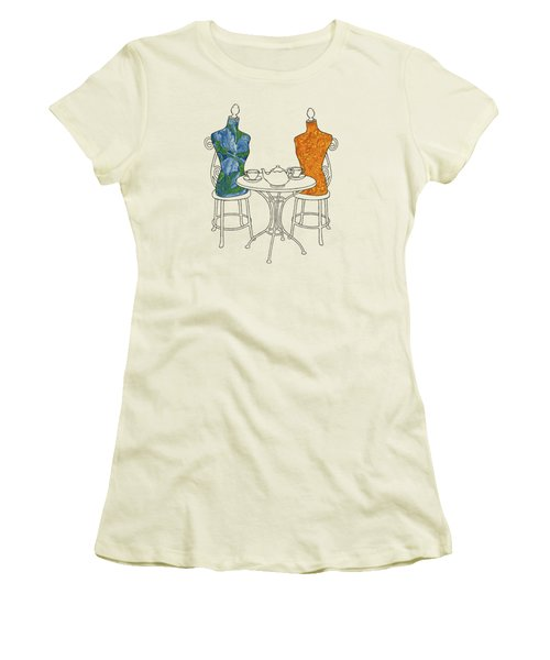 Women's T-Shirt (Junior Cut) featuring the painting High Tea by Meg Shearer