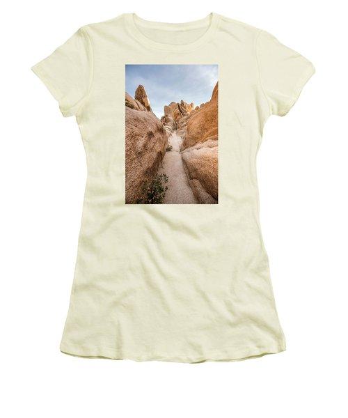 Hiking Trail In Joshua Tree National Park Women's T-Shirt (Junior Cut) by Joe Belanger