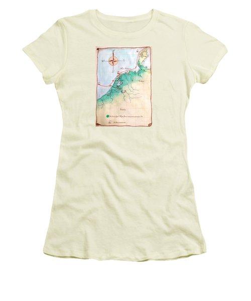 Magna Frisia- Frisian Kingdom Women's T-Shirt (Junior Cut) by Annemeet Hasidi- van der Leij